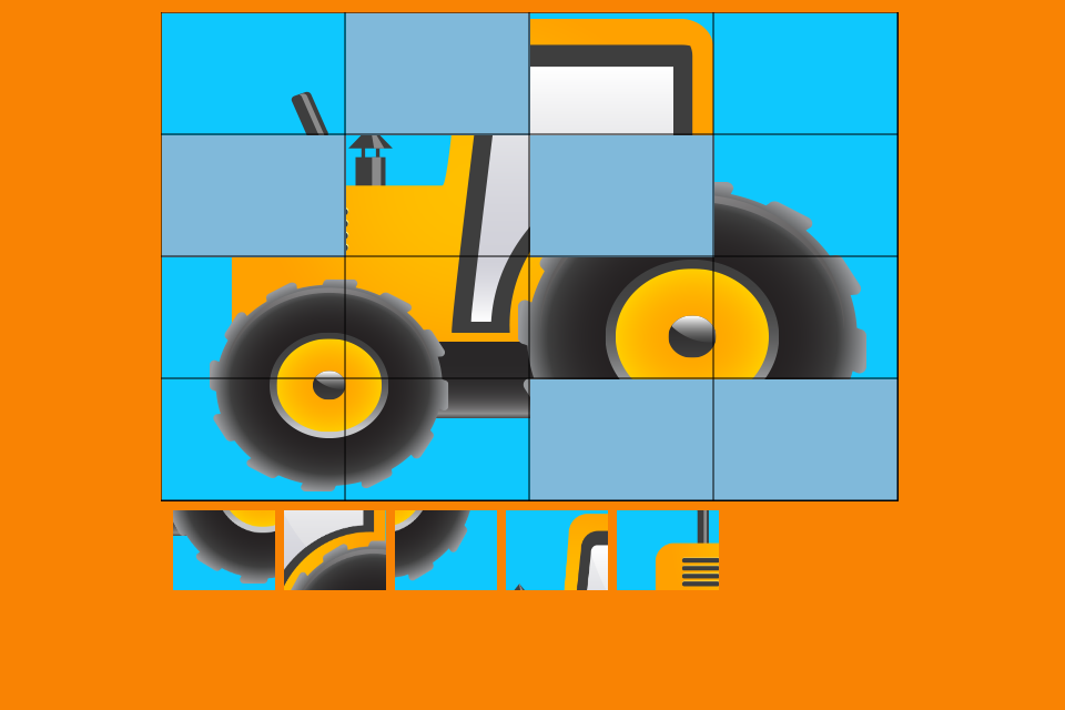 Screenshot Construction Vehicles Puzzle
